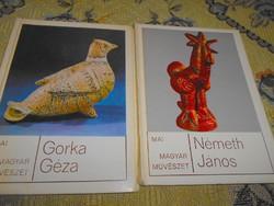 Gorka Géza-Németh János kerámiái Mai magyar művészet sorozat 2 db-ja