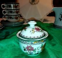 Ceranova  finom porcelán, kézzel dekorált cukortartó.