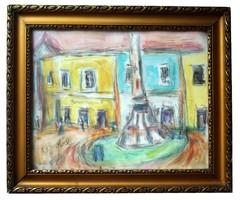 Czóbel Béla Főtér című festménye