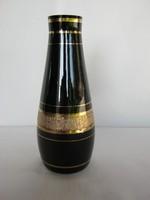 Bohemia fekete üveg váza