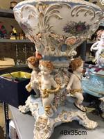 Meissen style-Puttós porcelán gyümölcstál