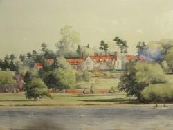 Fine Art minőségű akvarell festmény jegyzett festőtől