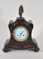 Antik bécsi kandalló óra, 19. század,