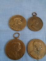 2012/10/16 Ferencz József bronz kitüntetés és érme az ár 4 db vonatkozik olcsón