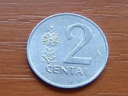 LITVÁNIA 2 CENTI 1991 ALU.