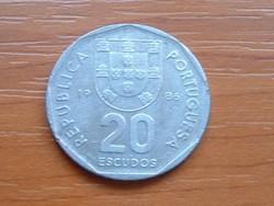 PORTUGÁLIA 20 ESCUDOS 1986