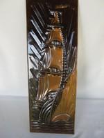 Réz kép fali dísz vitorlás hajó