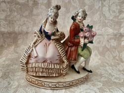Alt Wien barokk udvarló páros
