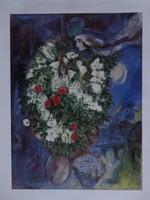 Marc Chagall: Szerelmesek virágcsokorral- certifikációval