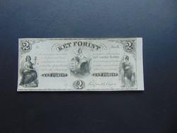 2 forint 1852 B Kossuth bankó Szép bankjegy !