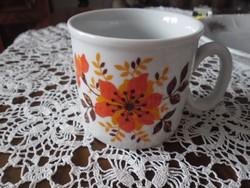 Virágmintás zsolnay csésze