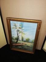 Antik akvarell festmény keretben!
