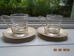 Eloxált alumínium és thermo üveg modern kávés készlet 2 sz