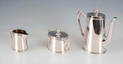 Ezüst szalag mintás kávéskészlet