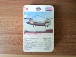 Helikopteres játékkártya