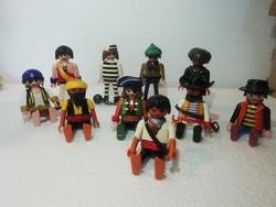 Geobra munkások figurák 10 db a képeken látható állapotban van lovas