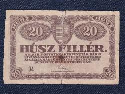 20 fillér bankjegy 1920 (id11023)