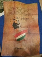 Március 15. plakát, MSZMP KB, Agitációs Irodájának végnapjaiban... 70x100 környékén