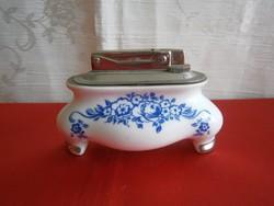 Nagyon régi, jelzett porcelán aljú gázos öngyújtó