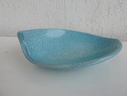 Jelzett iparművészeti repesztett mázas asztalközép