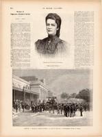 Erzsébet császárné temetése, metszet 1898, 16 x 22 cm, Ferenc József, monarchia, újság, császár