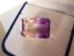 Fenséges fehér - lila ametrin kő, 28.5 karátos - ritka szín, 2 cm-es