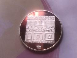 1976 ezüst 100 Schilling 24 gramm 0,640 PP Ritka