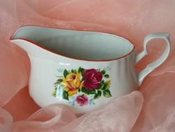 Rózsás porcelán szószos kiöntő