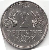 NÉMET 2 DM  márka 1951D