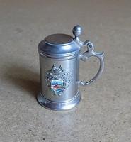 Pici fém fedeles söröskorsó Zell am Ziller Ausztria emlék 6,5 cm (1/p)