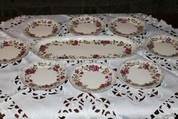 Zsolnay 9 részes pillangós süteményes készlet