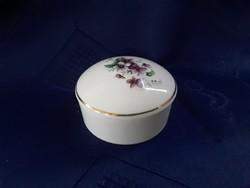 2864 - Ibolya mintás porcelán dobozka