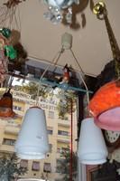 Régi fa figurás gyermek szobai lámpa