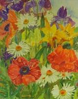 0Y095 Ismeretlen festő : Pipacsos virágcsendélet