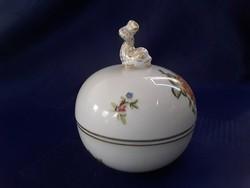2856 - Herendi rózsás bonbonier halacskás fogóval