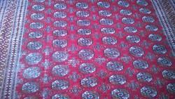 Ritka antik selyemperzsa szőnyeg elefántláb mot. 278x180 cm