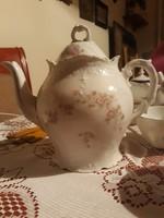Német porcelán teáskanna 3 csészével