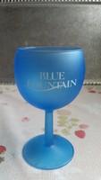 Retro kék talpas pohár  eladó!