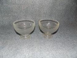 Retro üveg kehely párban fagyi fagylalt desszert (5/d)