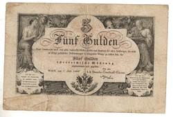 5 forint / gulden 1866 2. Eredeti állapotban.