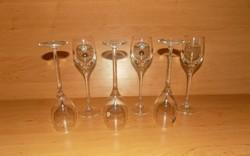 Retro talpas üveg pohár készlet Soha nem használt!