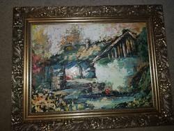Szőke Zoltán, olaj, festőkés, farost, 57x41 cm, keret nélküli akció