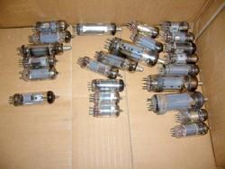 24 db elektroncső egyben régi rádiókba,stb. elektroncsövek- MPL csomagautomatába is mehet