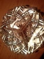Gyönyörű hibátlan  3 részes kristály tálka, kínáló