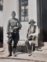 Régi mini fotó vh. katona fénykép