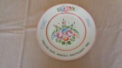 Hollóházi fali tányér 1 Ft-ról