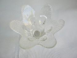Üveg virág gyertyatartó
