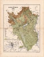 Fejér megye térkép 1886 (4), vármegye, atlasz, Kogutowicz Manó, 42x56 cm, Gönczy Pál, Székesfehérvár