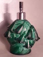 Malachit üveg parfümös nagy méretű testes különleges ritka