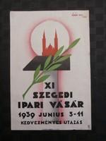 Horthy korabeli plakát Szegedi Ipari Vásár 1939